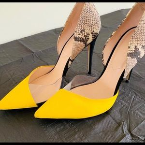 Clear & Yellow pump